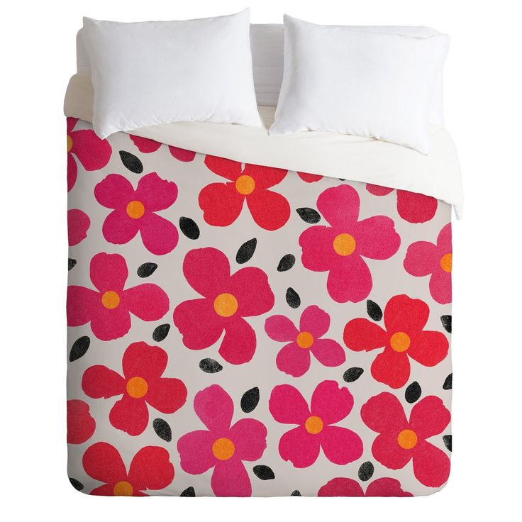 Garima Dhawan Dogwood Berry Duvet Cover | Deny Designs Home Accessories