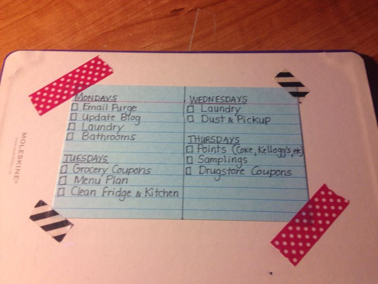 Daily To Do List- Standard Operating Procedure for every week! Bullet ...