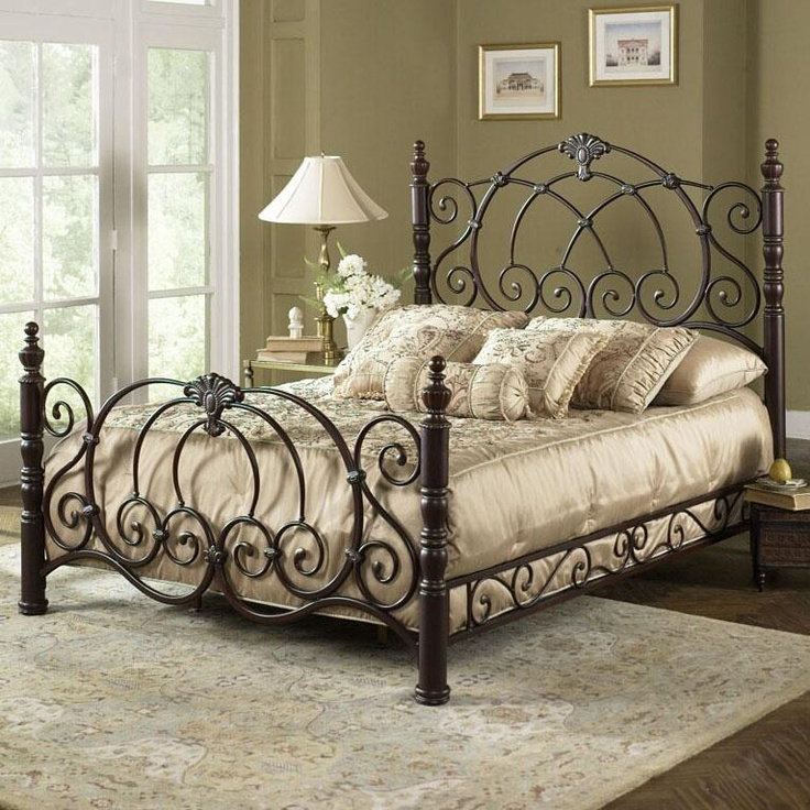 17 best ideas about wrought iron beds on pinterest 17883 | ecddd00dcc720d9a70bd69f5ee0edcac