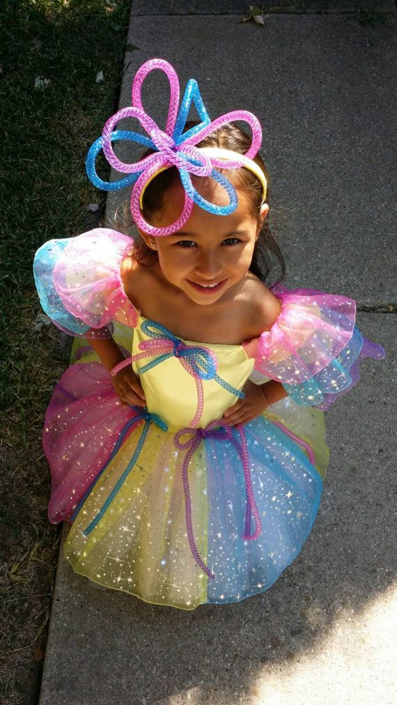 Colorful  Fairy Princess Costume for little girl by DipDesigns