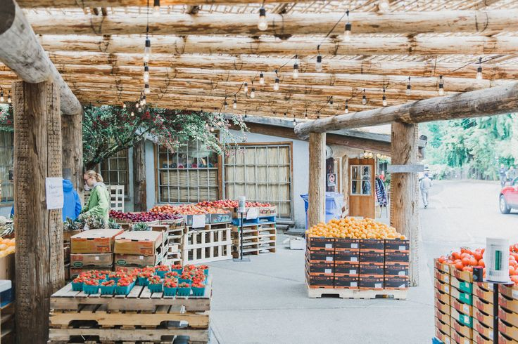 This was such a cute farmers market we stopped at on our way to the next air bnb! We got lunch here and enjoyed watching the goats on the roof (so random but cool). There was also a sweet ice cream shop nearby.