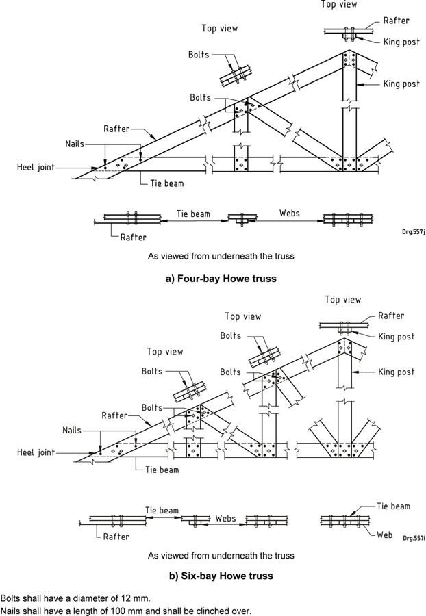 Figure 11 Howe Truss Joint Details Architecture Roof