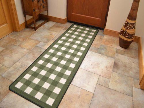 Non Slip Rubber Backing Long Narrow Hall Rugs Kitchen Floor Carpet Runner  Mats