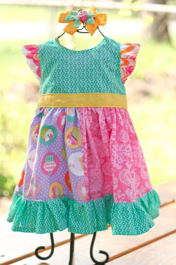 1st Birthday Dress with Hair Bow 12 months  by ArthurandEsther, $45.00