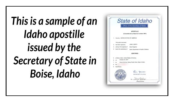 State of Idaho Certificate of Marriage signed by Marie Scott State - copy apostille birth certificate massachusetts