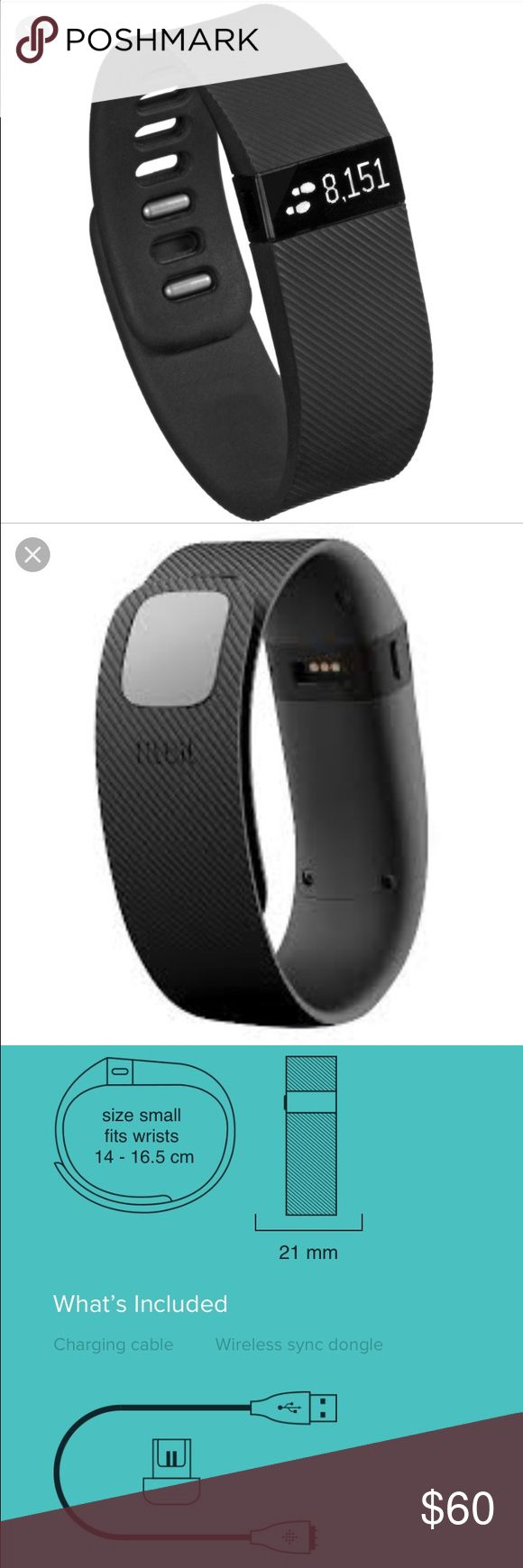 Fitbit Charge Small Energize your day with Charge—a wristband that tracks steps, distance, calories burned. Comes with original box and charger. Only used for 3 months. fitbit Accessories Watches