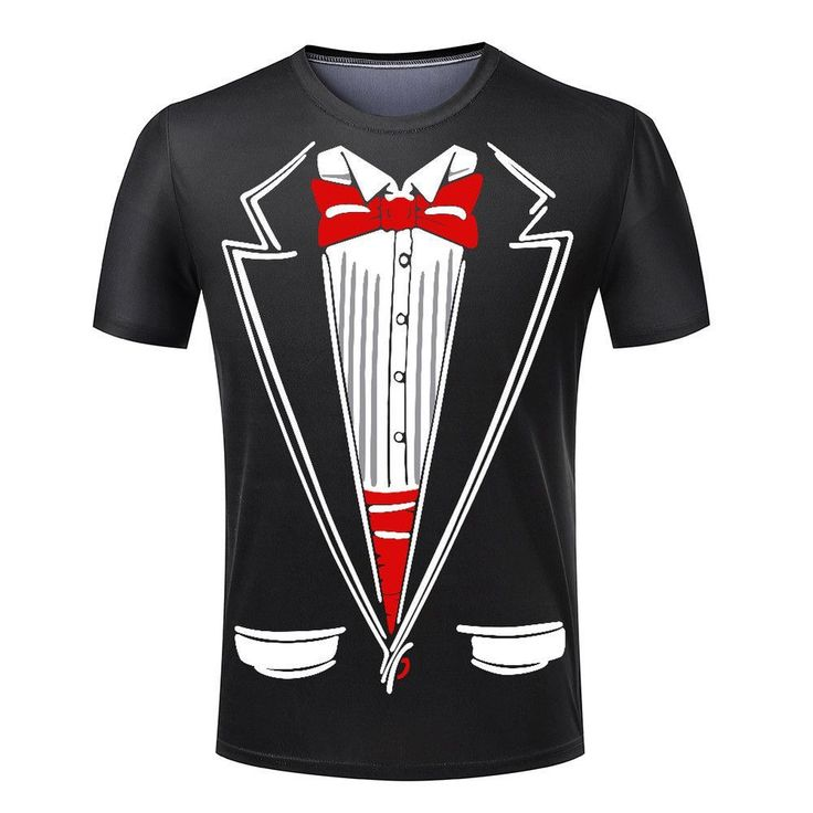 Hot Cheap Men T-shirt Tuxedo T Shirts 3D Print Funny Top Tees Short Sleeve Camisetas Summer Tshirt Plus Size S-4XL