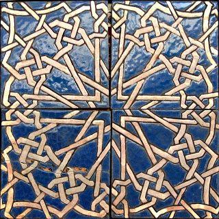 SEVILLARTE: Azulejos de cuerda seca. Sevilla s.XIV