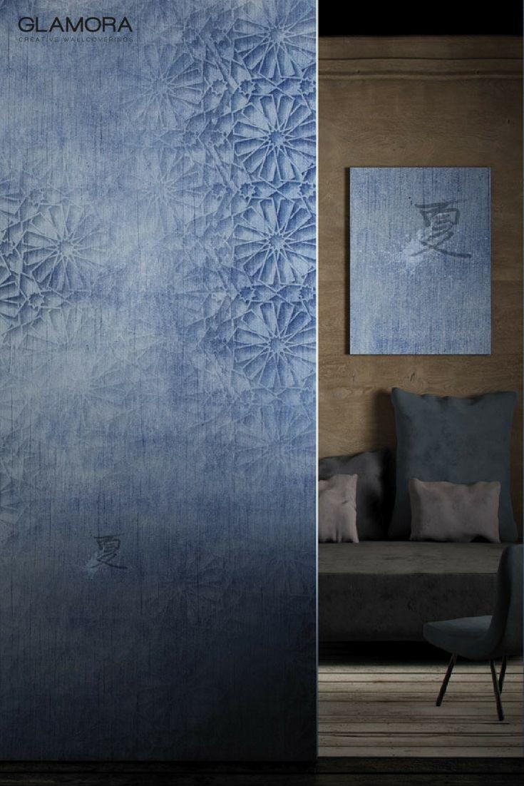 Indaco | Natural Wallcovering & Carta da Parati | Denim Collection by Glamora