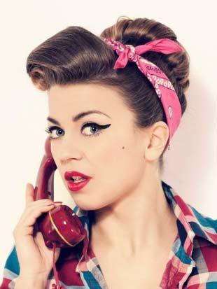 Les 25 meilleures id es de la cat gorie coiffures ann es 50 sur pinterest coiffures vintage - Coiffure annee 50 femme ...