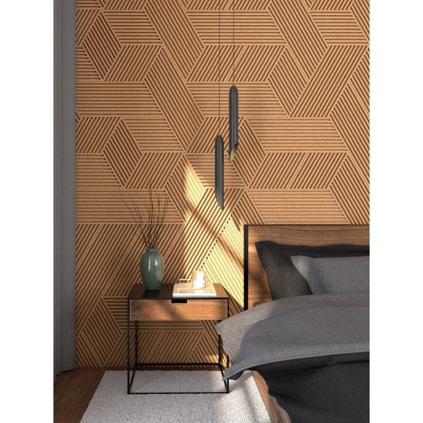 Unique And Decorative Yellow Cork Wall Tiles 3d Stripes Cork Wall Tiles Cork Wall Cork Wall Panels