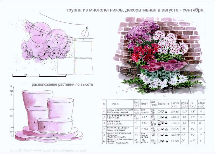 Проектировании Цветников