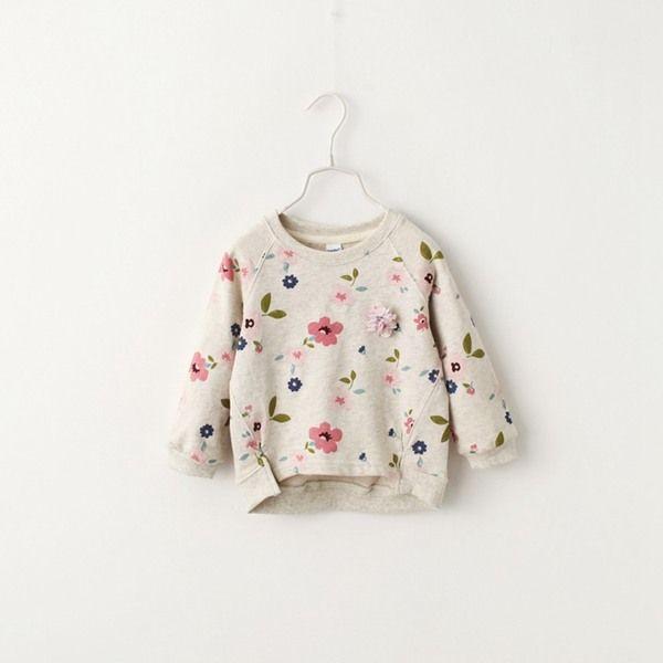 2017 весна новый женский детей ребенок хлопок Западный стиль ретро печать персонализированные с длинными рукавами дна рубашки футболки