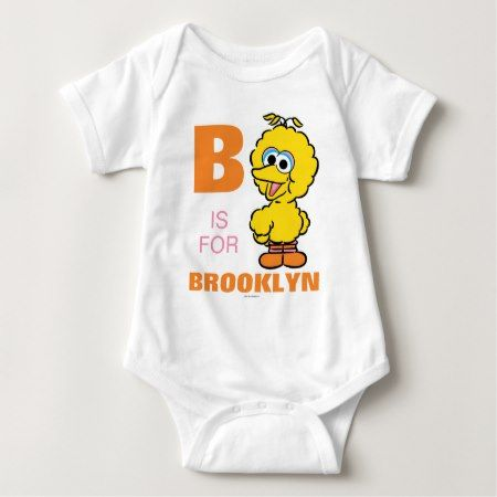 B is for Big Bird | Add Your Name Baby Bodysuit - click to get yours right now!