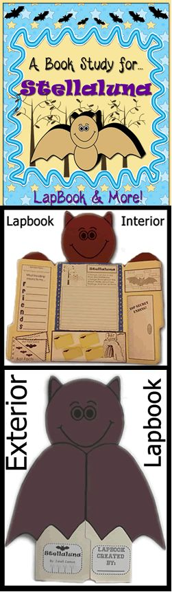 Stellaluna lapbook and much more! Includes worksheets, printables, fun activities (40 pages).