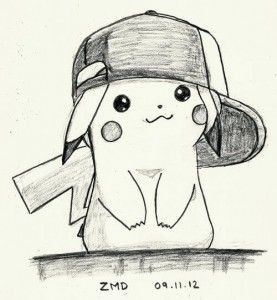 dibujo tierno pikachu a lapiz