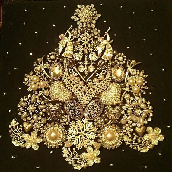 272 best Jeweled Trees images on Pinterest | Christmas crafts ...