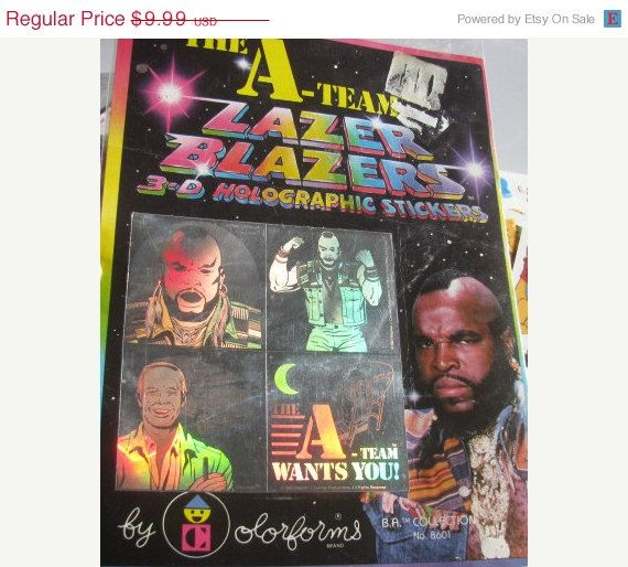 ON SALE Rare Vintage Lazer Blazers A-Team Hologram Stickers 80's Collectable New in Package on Etsy, £5.52