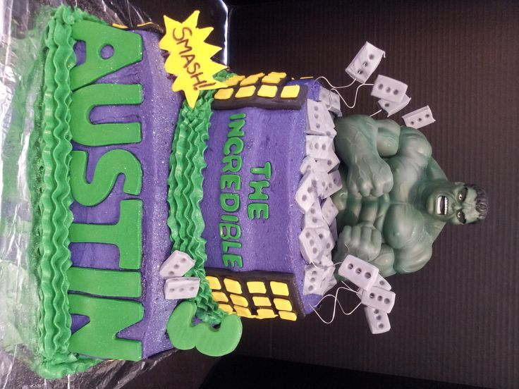 17 Best Ideas About Incredible Hulk Cakes On Pinterest