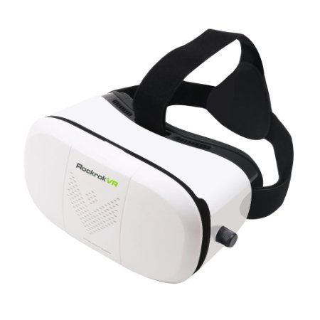 3D VR Glasses headset Rockrok Virtual Reality Goggles - compatible with 4.7-6 inches IOS and Android Smartphones - for 3D Movies and Games