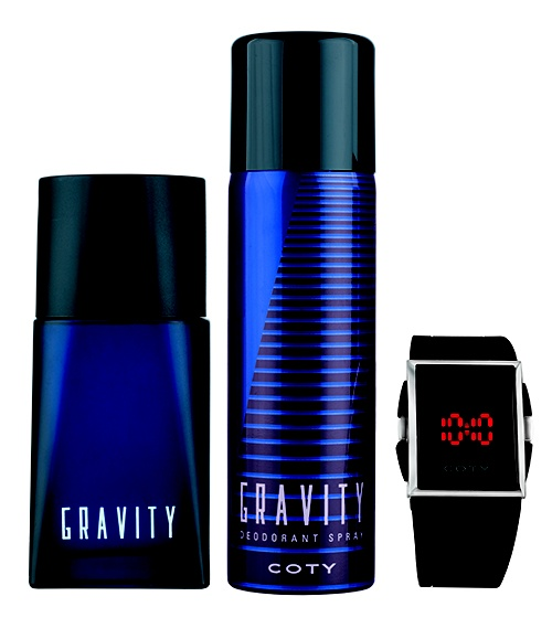 COTY Gravity 50ml cologne, spray and watch set
