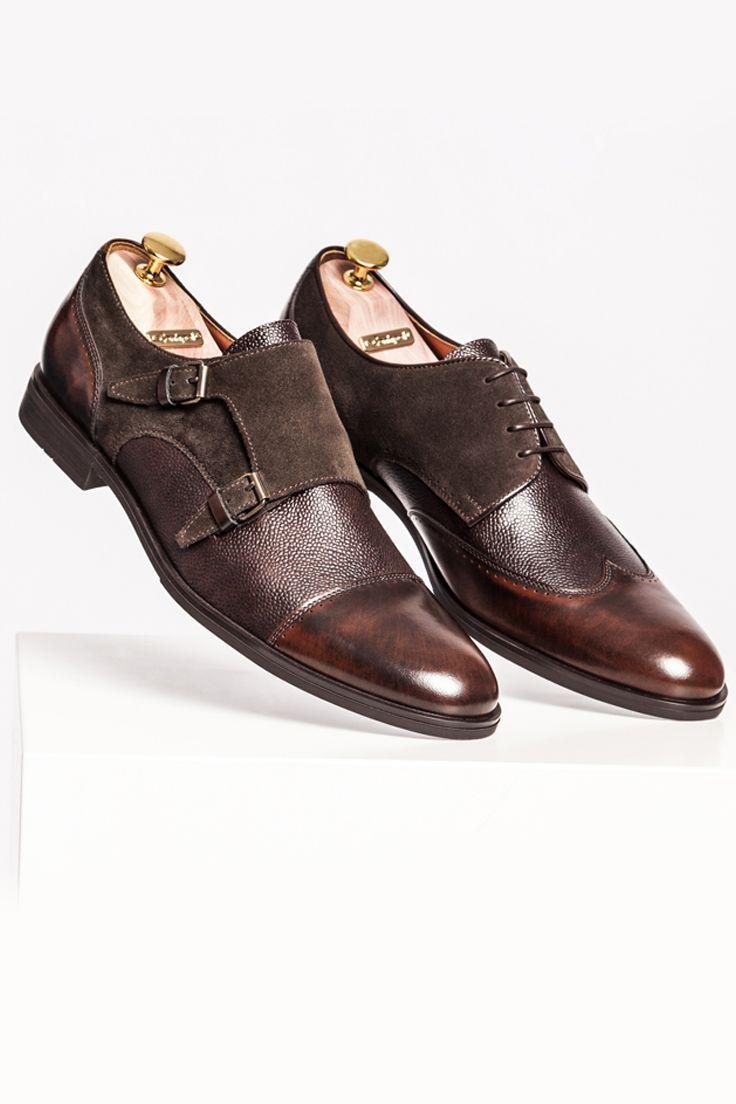 Polbuty Meskie Skorzane Brazowe Richard Ce4975 01 Dress Shoes Men Oxford Shoes Dress Shoes