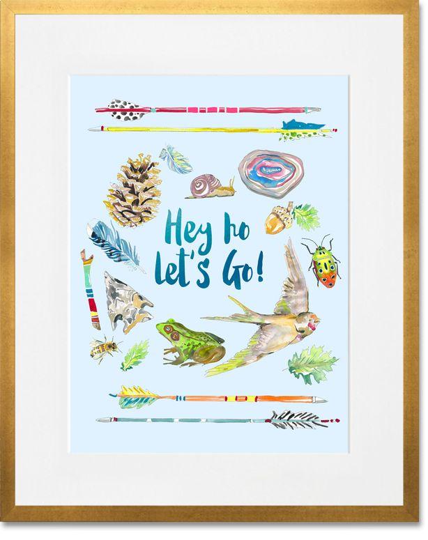 Hey Ho Let's Go!, Bohemian Art Prints | shelly kennedy/Droozstudio for Oopsy Daisy
