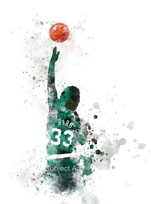 "Art #print larry bird illustration 10 x 8"" basketball, nba, sport, #boston #celti,  View more on the LINK: 	http://www.zeppy.io/product/gb/2/191814222487/"