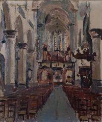 Petran Vermeulen kerkinterieur 1939