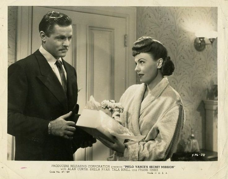 Alan Curtis and Sheila Ryan, Philo Vance's Secret Mission (1947)