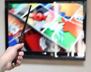 Magic Wand TV Remote:maybe not real spells but the magic wand TV remote will let you magically change the channel all with a flick of the wrist that'll have your muggle friends wondering when you found the time to attend Hogwarts.