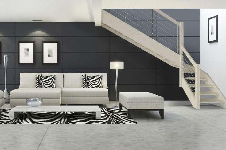 Abbinare pareti e pavimento - Pavimento grigio chiaro e pareti più scure