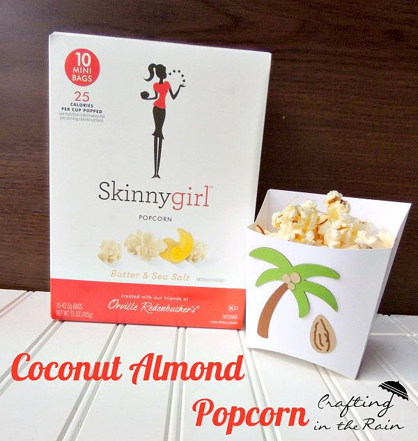 Popcorn Recipes Coconut Almond Popcorn--sweet treat! Low Calorie Popcorn Recipes | Crafting in the Rain