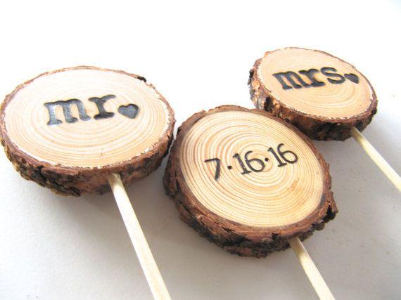 Hochzeitstorte Topper Holz Cake Topper Holz von EndGrainWoodShoppe