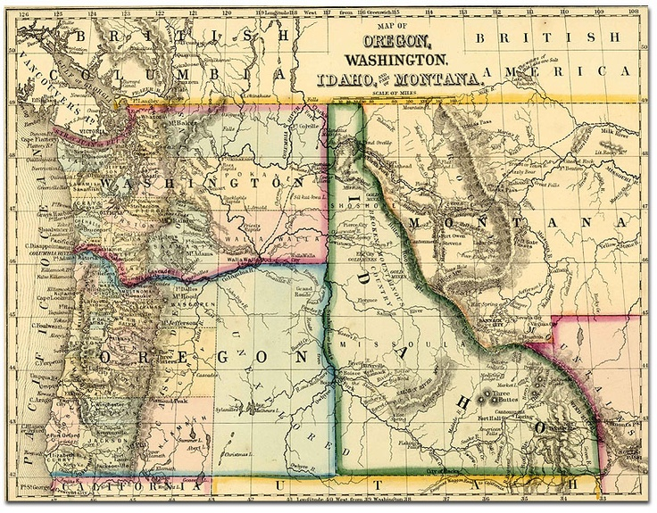 Historical Map Of The Pacific Northwest