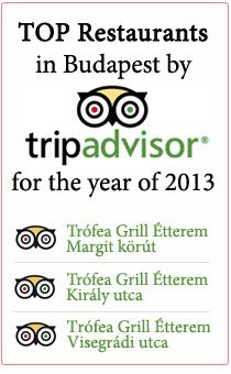 TOP Restaurants in Budapest by Trip Advisor for the Year 2013!