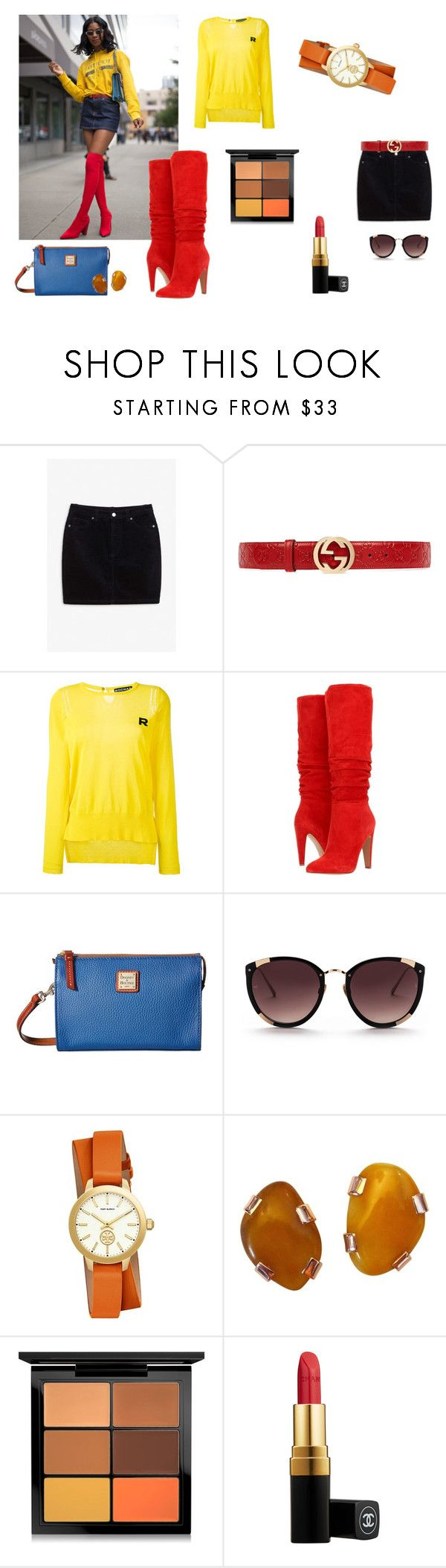 """""""Y'all Girlll"""" by elfafungian on Polyvore featuring Monki, Gucci, Rochas, Steve Madden, Dooney & Bourke, Rebecca Taylor, Tory Burch, MAC Cosmetics and Chanel"""