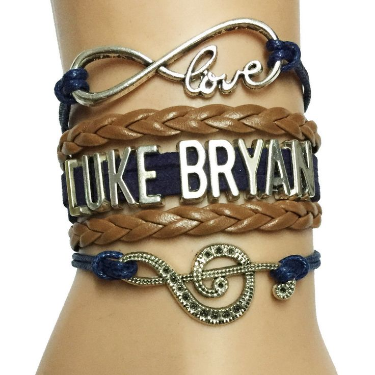 ♡LUKE BRYAN♡ Handmade Leather Bracelet. Only 10 available *SPECIAL OFFER* PAY ONLY FOR SHIPPING! Perfect for every Luke Bryan fan!