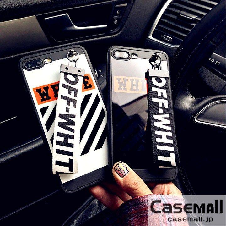 Off-White iphone8ケース ペア iphone7PLUSケース オフホワイト iphone7 7sケース 鏡面