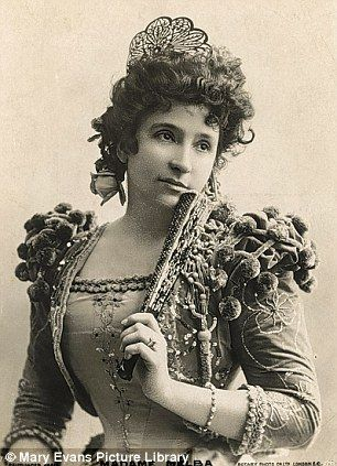 Dame Nellie Melba Opera Singer world famous reputed to be as popular as Madonna in her day.