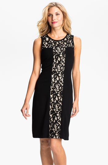 Lace Insert Sheath Dress - now available at @Nordstrom. Made in the USA.