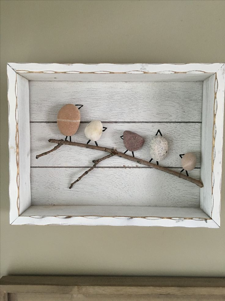 What to do with beach rocks (Outdoor Wood Box)