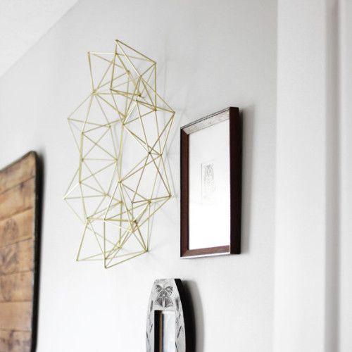 Brass Himmeli Wreath #EPiC #cheap #3Dart #designspongeblog #beautiful #wallart