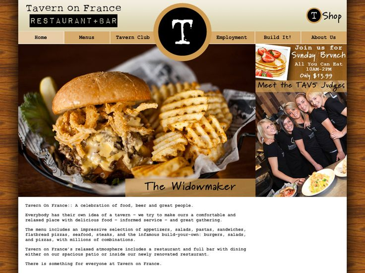 Tavern on France  6740 France Avenue South  Minneapolis, MN 55435  (952) 358-6100    build your own burgers and bloody marys! Amazing!