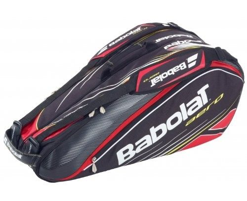 Feel like Rafael Nadal When you Walk on the Court with the Convenient and Comfortable BABOLAT-Aero-Line-6-Racquet-Bag @luxurytennisclub.com