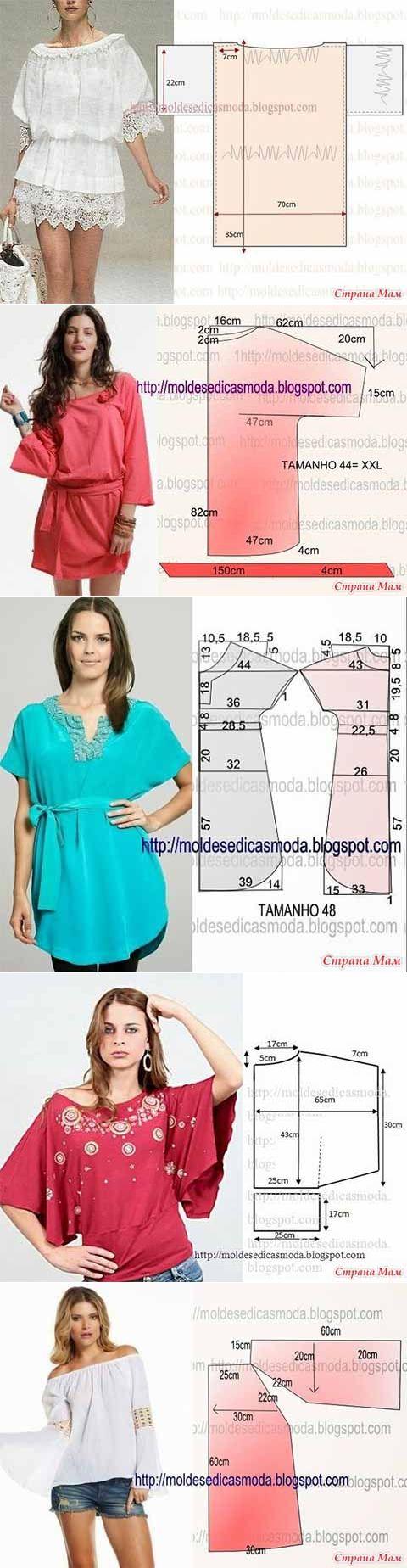 Una selección de patrones de ropa de verano, 4-16