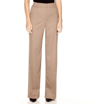 LIZ CLAIBORNE Liz Claiborne Sophie Secretly Slender Trouser Leg Pants - Shop for women's Pants - Light Brown Multi Pants