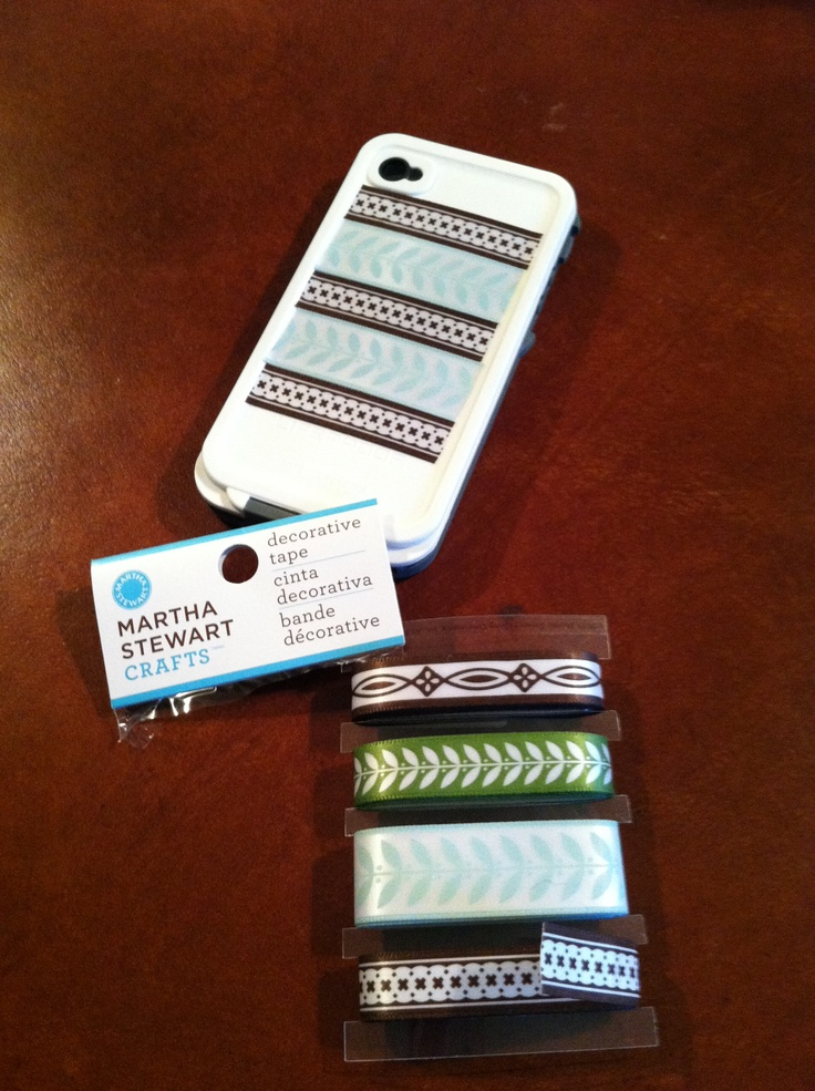 Easy way to decorate the LifeProof iPhone case. Use Martha Stewart decorative tape! LOVE my new cover!