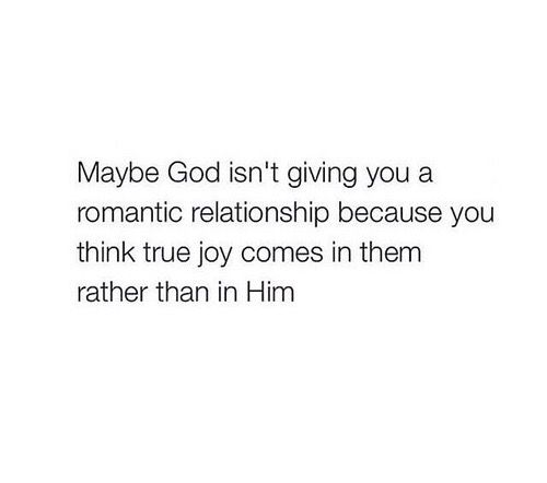 Its true before anything we have to learn to find joy in the Lord and to rely on only him