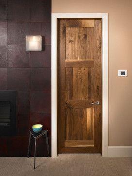 Craftsman Door In Select Black Walnut Contemporary Interior Doors